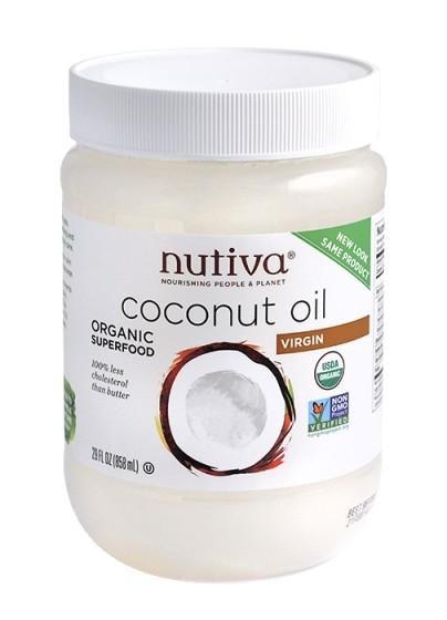 Organic Extra-Virgin Coconut Oil Nutiva - 858ml